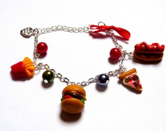 Bracelet sweet berries, hamburger