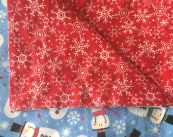 Snowman/Snowflake Youth Flannel Blanket