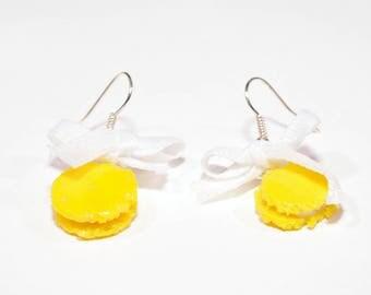 Lemon macaroon earrings