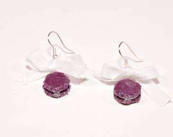 Macaroon earrings violet