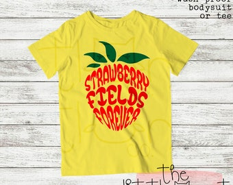 Boys - Boys Shirt - Toddler Boys - Boy Shirt - Funny Shirt - Boy Clothing - Toddler Shirt - Toddler Boy - Strawberry Fields Forever