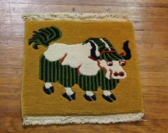 Tibetan Yak Square Meditation Rug