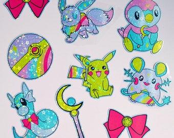 Sailor Moon X Pokemon V2 Themed Sticker Pack
