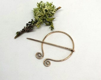 Hand Forged Bronze Pennanular Brooch