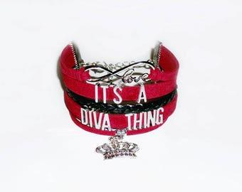 Diva Bracelet | Diva Jewelry | Diva Bling | Queen of Diva | Diva Queen | Diva Princess | Gifts for Women | Girlfriend Gift | Diva Love