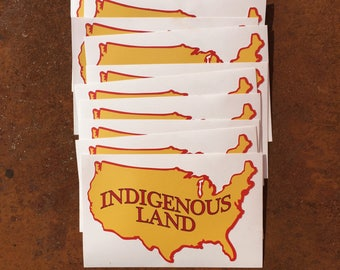 Indigenous Land Sticker