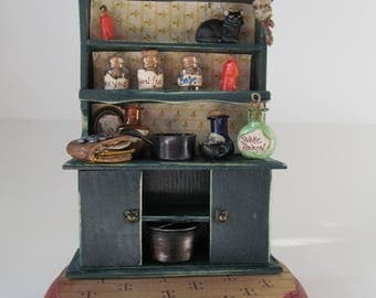 Miniature Cupboard Voodoo Queen Dollhouse Cabinet 12th Scale