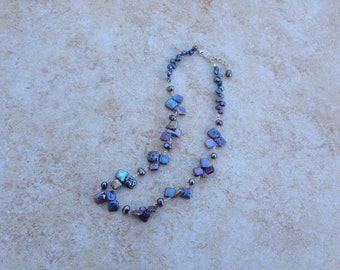 Blues Fresh Water Pearl Necklace