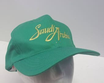 90s Saudi Arabia snapback green dad hat