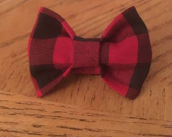 Flannel Dog Bow Ties (Sizes XS to L!)