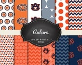 Auburn digital papers - 12x12 and 8.5x11 300 dpi