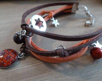 Hodgepodge bracelet cords and autumn charms