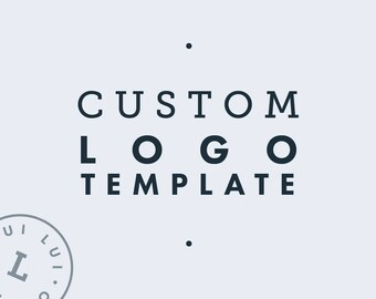 Custom Logo Template | Round Watermark | Minimalist Branding | Instant Download | Editable Logo Template