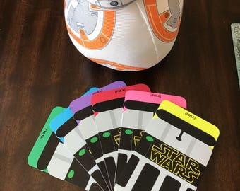 Star Wars Birthday Invitation | BB-8 | Star Wars theme | light saber invitation | light sabers