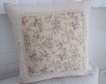 "Shabby Chic Patchwork Cushion   Cover   16"" x 16"""