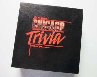 1985 The Original Chicago Trivia Board Game