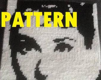 Audrey Hepburn Plastic Canvas PATTERN
