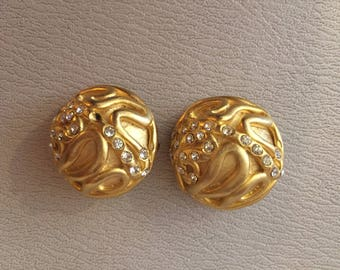 1960S // GOLDEN SNAKES // Vintge Norma Jean Clip On Earrings