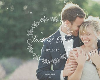 Modern Custom Wedding Website, RSVP Website, Wordpress Wedding Website, Invitation Wedding Website, Guestbook Website, Wedding Website