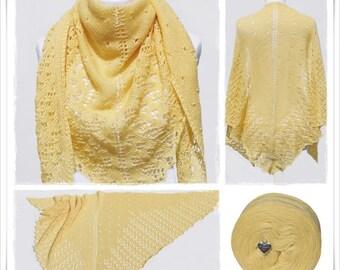 Knitting Pattern Lace Shawl Citronella