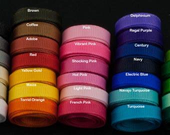 Ribbon 1/4 inch Solid Grosgrain Ribbon By the Yard, USA Made Ribbon, Hair Bow Ribbon, Wholesale Ribbon