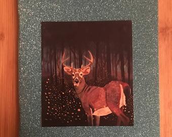 glitter deer notebook A5
