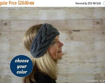 15% OFF SALE Cable Knit Headband, Knit Headband, Ear Warmer / THE Norfolk / Choose Your Color