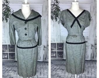 Original Vintage 1950's Black & White Dress Suit