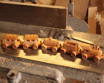 Custom order, Toy for boy, Wooden Tractor, Wooden Train