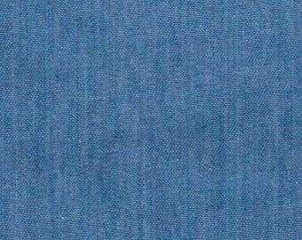 "Light Colour - Lightweight Washed 4oz Denim 100% Cotton Fabric Material 145cm (57.5"") Wide"