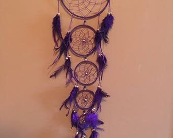 "6"" Dream Catcher,Purple,Large ,Reiki Charged, Legend, Native, Hand Wrapped,Dreamcatcher, Energy Healing, Protection"