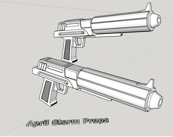 Captain Fordo Clone Trooper Heavy Blaster From 2D Clone Wars Series, 3D Print File