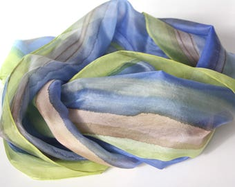 Women's scarves - Hand painted silk scarves - Spring summer scarves - Natural silk scarf - Luxury Silk scarves - Summer accessoires