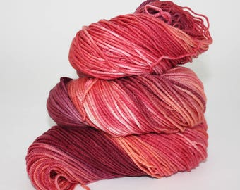 Hand-Painted DK Superwash Merino Wool Yarn - Light and Lovely Bouquet