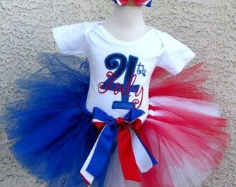 July Fourth Red, White and Blue Tutu - Red, White and Blue Tutu,Sizes 6m - 14/16