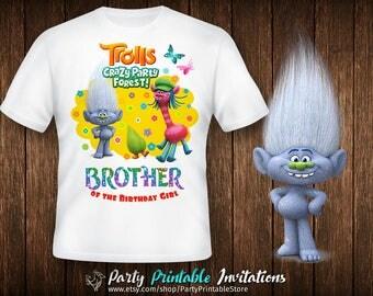 Trolls birthday shirt, Trolls birthday shirt iron on, Trolls birthday shirt printable,Trolls birthday shirt family,Trolls birthday shirt boy