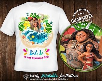 Moana Dad Shirt, Birthday Girl Daddy Shirt, Moana Birthday Shirt Iron On, Moana Birthday Shirt Family, Moana Birthday Shirt Printable, Moana