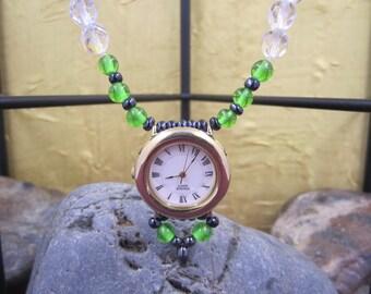 Ladies Pulsar Watch Pendant  Necklace