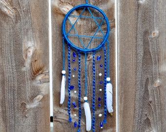 50% OFF!!!!! Star of David Dream Catcher, Hanukkah / Chanukah Dreamcatcher Decor