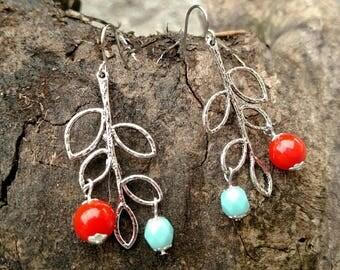 Earring - Silver Branch