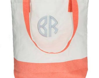 Heartstrings Personalized Color Block Totes
