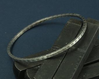 Checkerboard Bangle--Silver Bangle--Textured Bangle--Stacking Bangle--Layered Bangle--Solid Silver--Square Bangle--Silver Bracelet