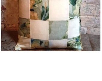 Beautiful Quality Handmade in UK Piped Patchwork Scatter Cushion Pillow Home Decor Soft Furnishing Gift