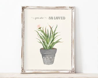 Tribal Boho Natural Succulent Artwork Digital Print Catus Pink Vintage Drawing Nursery Baby Shower Little Girl Play Room Female Your Tribe