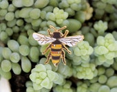 Gold Honey Bee Glitter Luxury Enamel Pin