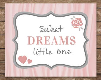 INSTANT DOWNLOAD - Sweet Dreams Little One - Printable Wall Art - M2M The Peanut Shell Bella bedding - DIGITAL 8x10