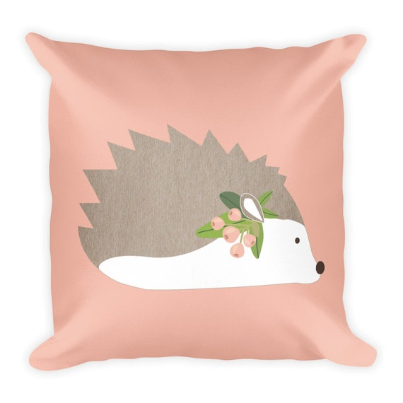 Hedgehog Square Pillow