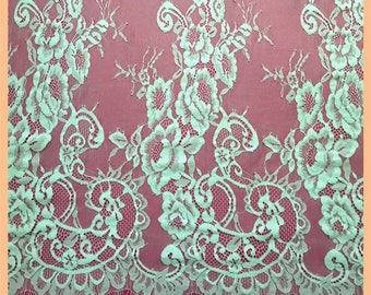 "Wedding Lace Fabric sell by yard ,off  White Chantilly Lace fabric  for wedding 59"" width-V00050-designourlife"