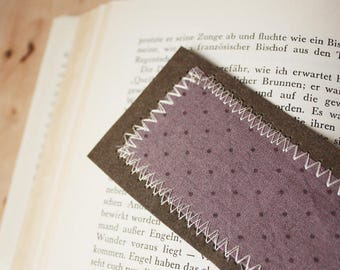 Bookmark lilac dotted