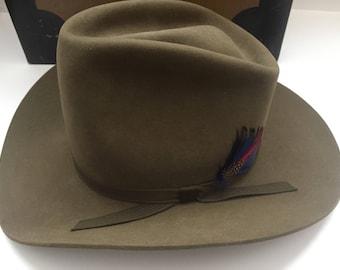 Vintage Bailey Western Cowboy Hat 5x With Original Box
